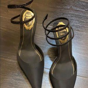 Rene Caovilla snake closed toe heels